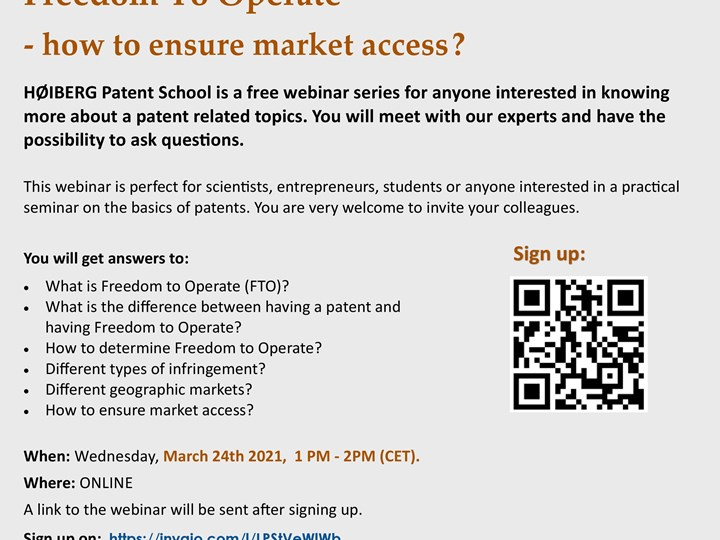 Freedom To Operate - how to ensure market access?